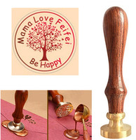 Tree Of Life Wax Stamp Custom Logo Brass Stamp Head DIY Seal Retro Stamp Personalized Stamp