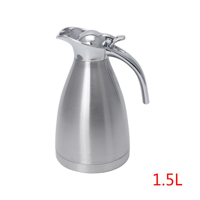 Stainless Steel Vacuum Insulation Pot Hot Water Kettle Thermo Jug 1.5L 2.0LStainless Steel Vacuum Insulation Pot Hot Water Kettle Thermo Jug 1.5L 2.0L