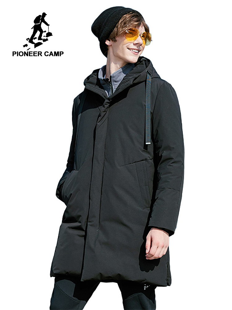 Pioneer Camp duck   down   jacket men brand-clothing solid long warm winter   down     coat   male top quality AYR801397
