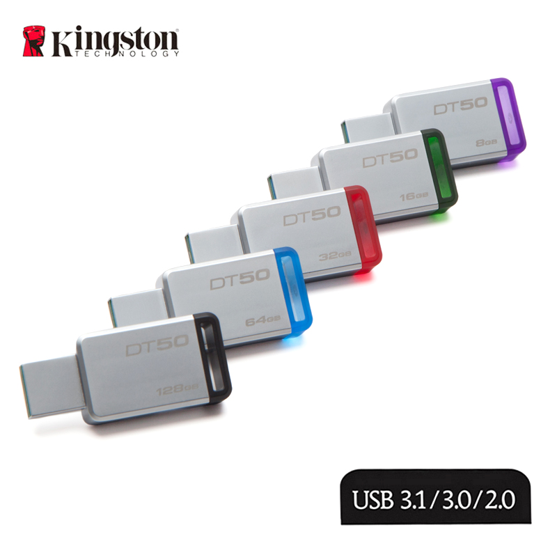 KINGSTON Pendrive 64GB 16G USB Flash Drive USB 3.1 de Alta Velocidade 128 GB/64 GB/32 GB/16 GB/8 GB 32G Pendrive Real Capacidade USB Stick 128G