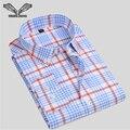 Homens camisa xadrez de algodão de manga comprida 2017 primavera nova chegada do sexo masculino casual marca clothing negócio camisa masculina social n1216