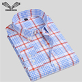 Men Shirt Plaid Cotton Long Sleeve 2017 Spring New Arrival Male Casual Brand Clothing Business Camisa Social Masculina N1216