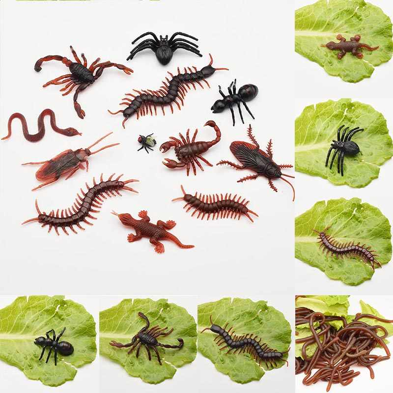 Dijual 1 PC Simulasi Spider Serangga Mainan Pesta DIY Palsu Kecoa Hari April Mop Scorpion Kelabang Kecoa Gecko Dekorasi