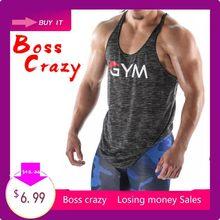 2018 Gyms Tank Tops Mens Undershirt Sporting Wear Patchwork Bodybuilding Men Fitness Exercise Clothing Vest Sleeveless Shirt(China)