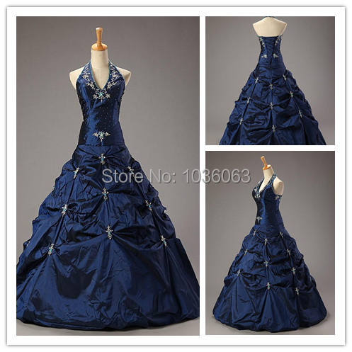 Cheap High Quality Long Actual Image Quinceanera Dresses Halter Neck Open Back Elegant Sweet 15 Years Masquerade Ball Gown Dress