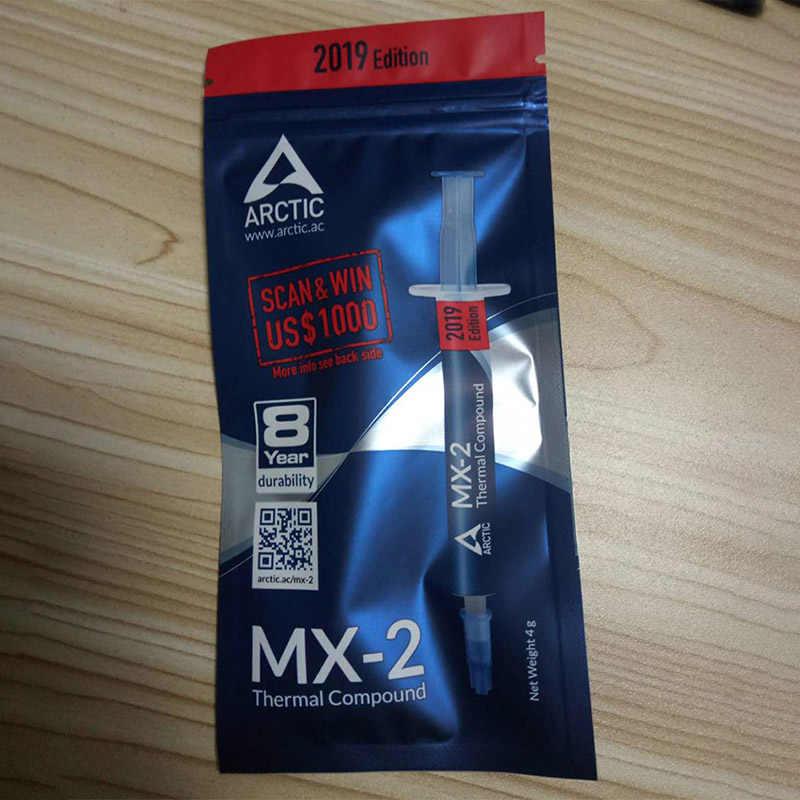 Novo composto térmico refrigerando MX-2 4g da pasta do ártico para o pc xbox 360 ps3 nenhuma condutibilidade térmica alta da graxa térmica de prata