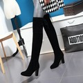 New Winter Fur Boots Women's Over the Knee High Boots Woman Long Thigh High Boots Botas Mujer Wedding Boots Red Black Grey Nude