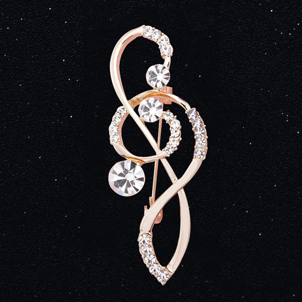 HOT Rose Gold Crystal Sweater Neck Rhinestone Brooch Pin Scarves Collar Badge