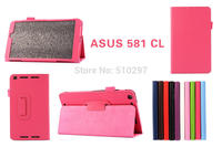 Free shipping For Asus MeMO Pad 8 ME581C Folio Cover Litchi Stand PU Leather Case For Asus ME581C ME581CL 8 inch