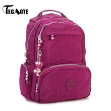 TEGAOTE Backpack Women School Backpack for Teenage Girl Mochila Escolar Casual Nylon Travel Bag Bagpack for Laptop Keychain 2019(China)