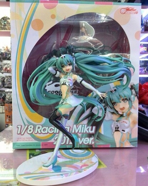 22cm Hatsune Miku Racing Girl Anime Collectible Action Figure PVC toys for christmas gift with retail box