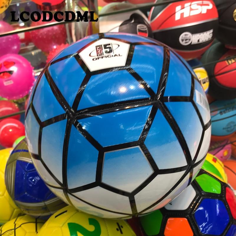ზრდასრული ფეხბურთის მაღალი ხარისხის ზომა 5 PU ფეხბურთის პროფესიონალური ტრენინგი მატჩი კაცისათვის ბავშვთა სპორტული თამაშები