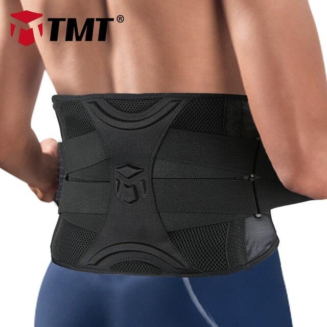 TMT Gym Lumbar Waist Support Adjustable Waist Trimmer Belt Back Exercise Weight Loss Body Shaper Fitness Slimming Belt