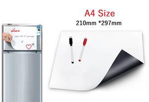 Wonyean Dry-Erase Notepad Message-Board Fridge Magnet Kitchen 2-Marker-Pen for Reminder