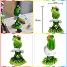 Free shipping Cute Funny Frog Family Mini Figures Skirt styles Resin toys cake car office desk
