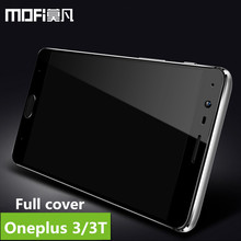 oneplus 3 glass tempered MOFi original oneplus 3t screen protector one plus 3t glass full cover white black glass film 5.5 inch