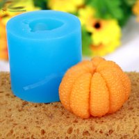 Silicone Molds Fruit Mold 3D Orange Soap Mold Orange Silicone Soap Molds Oranges Aroma Stone Moulds