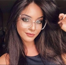 COOLSIR Fashion Cat Eye Eyeglasses Frame Women Computer Optical Glasses Spectacle For Womens Transparent Clear Lens Female
