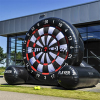 football dart game inflatable dart game/inflatable soccer darts Outdoor advertising soccer dart board with pump