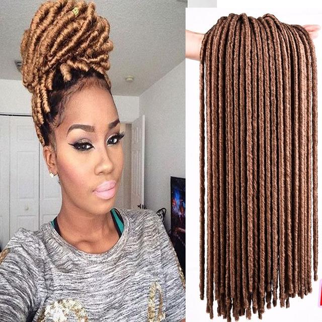 Dreadlocks Extensions Crochet Braids Hair 14 96g Afro Burgundy