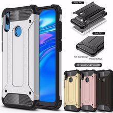 Rubber Armor Case For Huawei Nova 3i 4 P Smart Plus P8 P9 Lite 2017 P10 Y5 Y6 Prime 2018 Y7 Pro Y9 2019 TPU+PC Protective Cover(China)