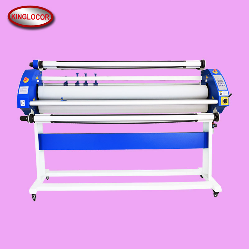 Large Format 63Inch 5Feet Automatic Electric Roller Heat Assisted Cold Low Temperature Glue Paper Film Roll laminator