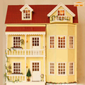 Furniture DIY Doll House Wodden Miniatura Doll Houses Furniture Kit DIY Puzzle Assemble Dollhouse Toys For Children gift A010