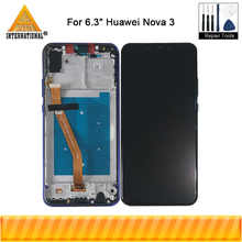 "Original Axisinternational 6.3"" For Huawei Nova 3 PAR-AL00 LCD Display Screen Frame+Touch Panel Digitizer For Nova 3 LCD Frame - DISCOUNT ITEM  9% OFF Cellphones & Telecommunications"