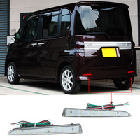 Car Styling 2Pcs 24 LED Rear Bumper Reflector Tail Brake Stop Running Turning Light For TANTO