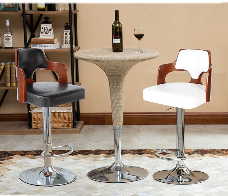 Home coffee chair Living room red wine stool retail wholesale white black lift rotation stool free shipping цена 2017