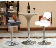 Home coffee chair Living room red wine stool retail wholesale white black lift rotation stool free