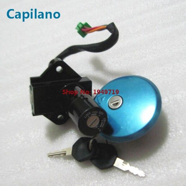 Aluminum Motorcycle Ignition Key Switch Lock for Suzuki GS