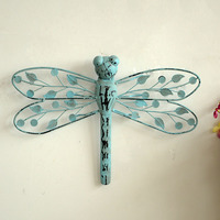 Free Shipping 1pcs Lot Iron Dragonfly Zakka Style Home Furnishing Decorative Christmas Decorations Gifts Crafts