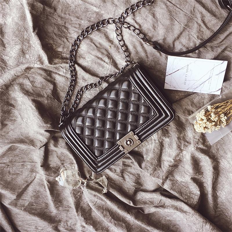 все цены на 2018 Luxury Women Leather Handbags Crossbody Bags For Women Evening Clutch Chain Messenger Small Shoulder Bags bolsa feminina