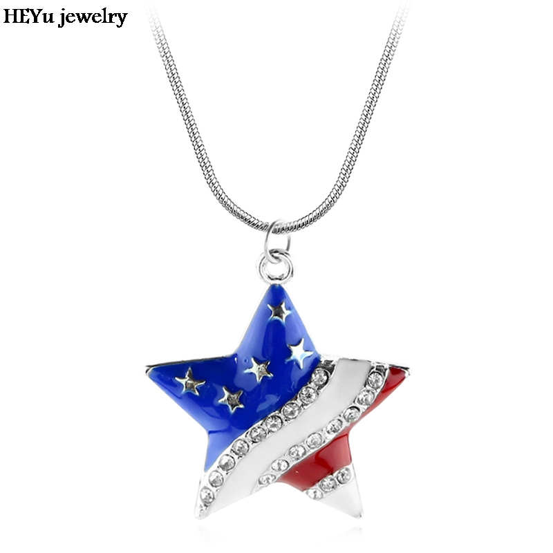 necklaces in new american pendant steel hipster men stainless from jewellery mens symbol item usa chain jewelry extend flag collier necklace
