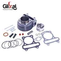 Glixal GY6 100cc Chinese Scooter Engine 50mm Big Bore Cylinder kit with Piston Kit for 4T 139QMB 139QMA JONWAY ZNEN Roketa Moped