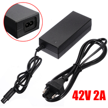 Onsale 42V 2A EU Power Adapter Charger Black High Quality Power Chargers For 2 Wheel Balance Scooter Hoverboard 42v 2a universal battery charger for hoverboard smart balance 36v electric power scooter adapter charger eu us