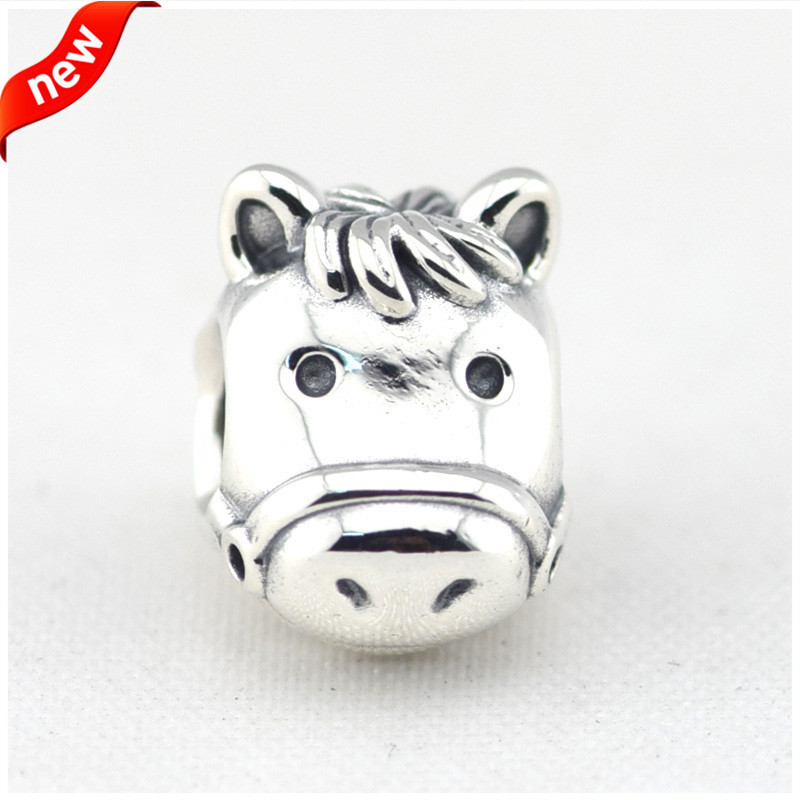 CKK Beads Horse Silver Charms Fits for Luxury Brand Bracelets Original 925 Sterling Silver Beads for Jewelry Making F276CKK Beads Horse Silver Charms Fits for Luxury Brand Bracelets Original 925 Sterling Silver Beads for Jewelry Making F276