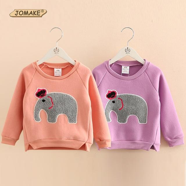 New 2017 Children Casual Hoodies Cartoon Elephant Girls Sweatshirts Kids Long Sleeve T-shirts Fashion Girls Tops Girl Pullovers