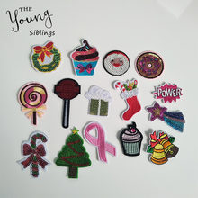 Sewing Clothes Patch High Quality Iron On Embroidery Patches Hotfix Applique Motifs Sew On Garment Stickers Christmas Ornaments(China)