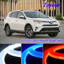 4D Luce Fredda HA CONDOTTO LA Luce di Marchio Dell'emblema del Distintivo per Toyota RAV4 Corolla Yaris Camry Reiz Prima di avensis Highlander LED Emblema luce