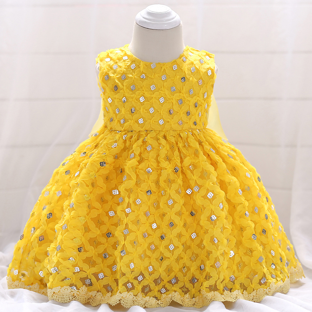 2017 Flower Baby Girl Baptism Dress Wedding Toddler Fancy Clothes ...