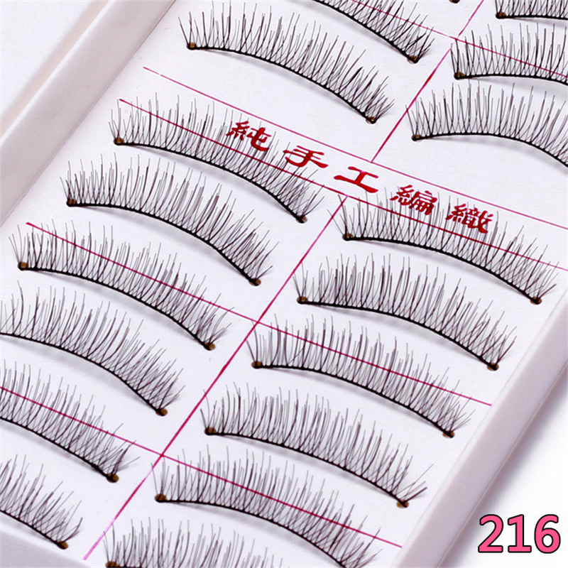 Follome 10 Pairs False Eyelashes Cruelty Long Lasting Soft Nature Long Volume Cross Makeup Fake Eye Lashes Accessories