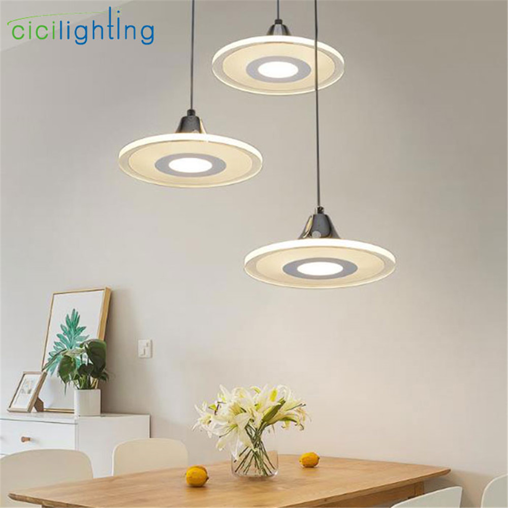 Modern Acrylic Led Pendant Light For Kitchen Dining Room