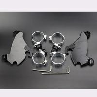 49mm Motorcycle Fork Bracket Gauntlet Fairing Black Trigger Lock Mount Kit For Harley Dyna FXD FXDC FXDL FXDL FXDB