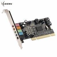 DIEWU CMI8738 PCI 5 1 Sound 5 Port Sound Card Cinema Stereo Surround Sound Card For