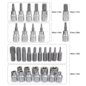 Image 5 - 34PCS Chrome Vanadium Steel Pressure Batch Sleeve Group Sets SleeveHead Machine Motor Socket Set Wrench Female Torx Male