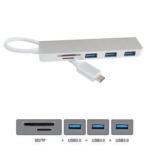 Image 2 - Thunderbolt 3 tip c USB C 3 port Hub SD TF kart okuyucu için Laptop ve telefon