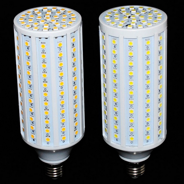 где купить free shipping LED Corn Light Bulb 5050 SMD 25W 132LED Light E27 360 degree High Power Warm white дешево