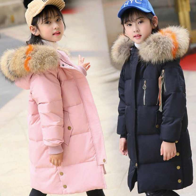 13684b13dbc8 Detail Feedback Questions about winter jackets girls duck down coats with  big fur collar russian winter clothing for children parka kids hood coat  teen ...